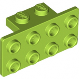 LEGO 4617067 ANGLE PLATE 1X2 / 2X4 - BRIGHT YELLOWISH GREEN