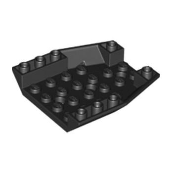 LEGO 6195436 ROOF TILE 6X6X1, INV. DEG. 45/18 - NOIR