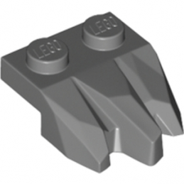LEGO 6168609 PLATE 2X3, ROCK - DARK STONE GREY