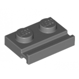 LEGO 4210944 PLATE 1X2 WITH SLIDE - DARK STONE GREY