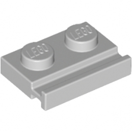 LEGO 4211568 PLATE 1X2 WITH SLIDE - MEDIUM STONE GREY