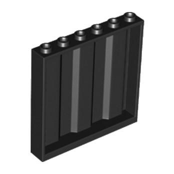 LEGO 6128857 MUR / CLOISON 1X6X5 CONTAINER - NOIR