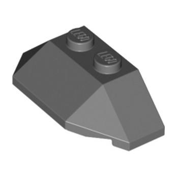 LEGO 6027686  ROOF TILE 4X2 W. ANGL./SL.BOT. - DARK STONE GREY