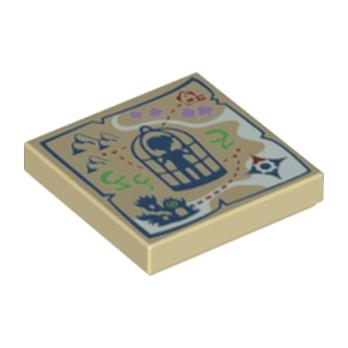 LEGO 6179353 CARTE ELVE 2X2 - BEIGE
