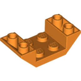 LEGO 6186381 ROOF TILE 2X4 INV. - ORANGE