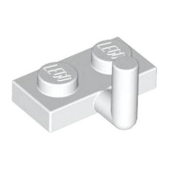 LEGO 4611700 PLATE W. HOOK 1X2 - BLANC lego-6261349-plate-w-hook-1x2-blanc ici :