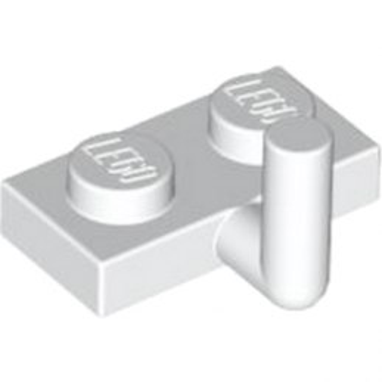 LEGO 6261349 PLATE W. HOOK 1X2 - WHITE