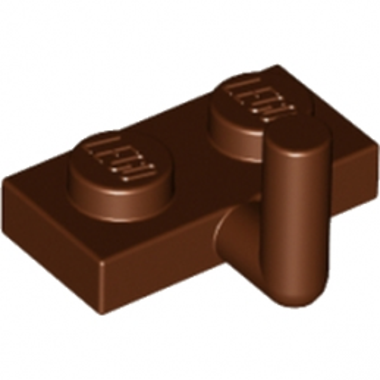 LEGO 6173941 PLATE W. HOOK 1X2 - REDDISH BROWN