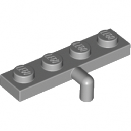 LEGO 4261605 PLATE 1X4 W. REV. HOOK - MEDIUM STONE GREY lego-6173095-plate-1x4-w-rev-hook-medium-stone-grey ici :
