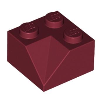 LEGO 6112265 CORNER BRICK 2X2/45° INSIDE - NEW DARK RED