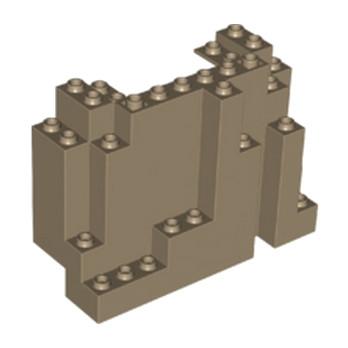 LEGO 6037837 ROCHER MONTAGNE 4x6x10 - SAND YELLOW