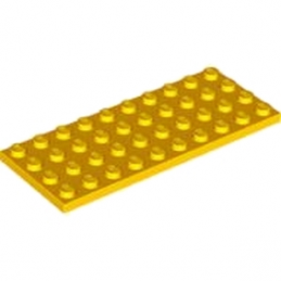LEGO 6185312 PLATE 4X10 - FLAME YELLOWISH ORANGE