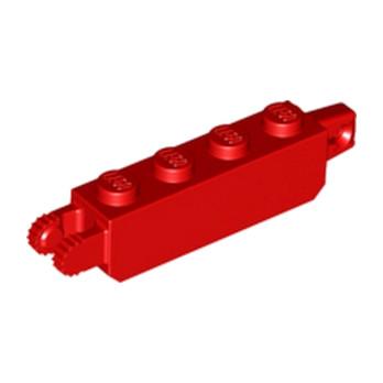 LEGO 6195079 BRIUE 1X4 FRIC/STUB/FORK VERT - ROUGE