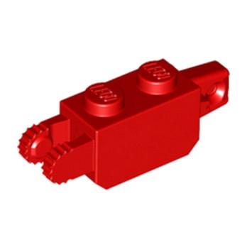 LEGO 4140704 BRIQUE 1X2 FRIC/STUB/FORK VERT - ROUGE
