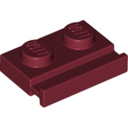 LEGO 6186005 PLATE 1X2 WITH SLIDE - NEW DARK RED