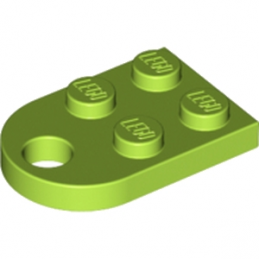 LEGO 6175325 COUPLING PLATE 2X2  - BRIGHT YELLOWISH GREEN