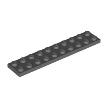 LEGO 4210678 PLATE 2X10 - DARK STONE GREY