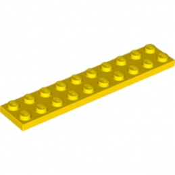 LEGO 383224 PLATE 2X10 - JAUNE