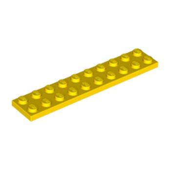 LEGO 383224 PLATE 2X10 - YELLOW