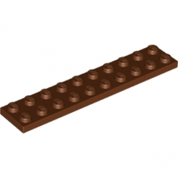 LEGO 4211214  PLATE 2X10 - REDDISH BROWN lego-4211214-plate-2x10-reddish-brown ici :