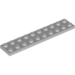 LEGO 4211462 PLATE 2X10 - MEDIUM STONE GREY