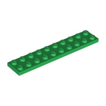 LEGO 383228  PLATE 2X10 - DARK GREEN