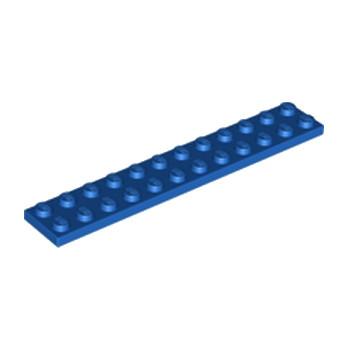 LEGO 244523 PLATE 2X12 - BLEU