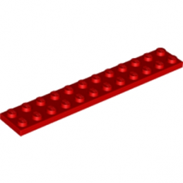 LEGO 244521 PLATE 2X12 - ROUGE