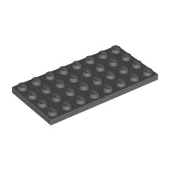 LEGO 4211061 PLATE 4X8 - DARK STONE GREY lego-4211061-plate-4x8-dark-stone-grey ici :