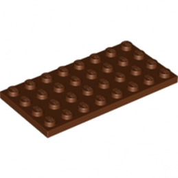 LEGO 4211207 PLATE 4X8 - REDDISH BROWN