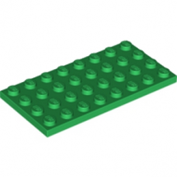 LEGO 4277361 PLATE 4X8 - DARK GREEN