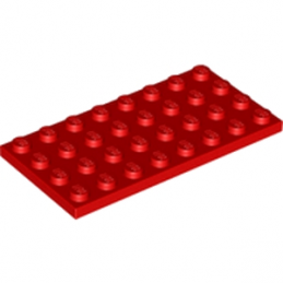 LEGO 303521 PLATE 4X8 - ROUGE
