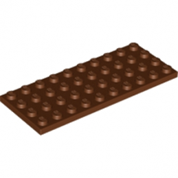 LEGO  4225715 PLATE 4X10 - REDDISH BROWN