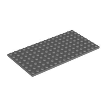 LEGO 4654613 PLATE 8X16 - DARK STONE GREY