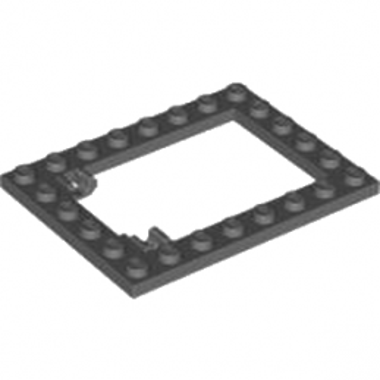 LEGO 4595708 CADRE TRAPPE 6X8 - DARK STONE GREY