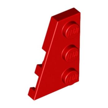 LEGO 4180533 PLATE 2X3 ANGLE GAUCHE - ROUGE