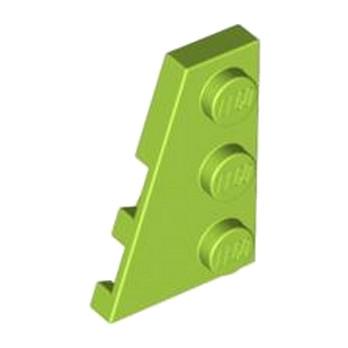 LEGO 4183168 PLATE 2X3 ANGLE GAUCHE - BRIGHT YELLOWISH GREEN