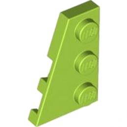 LEGO 4183168 PLATE 2X3 ANGLE GAUCHE - BRIGHT YELLOWISH GREEN