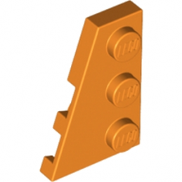LEGO 4180540 PLATE 2X3 ANGLE GAUCHE - ORANGE