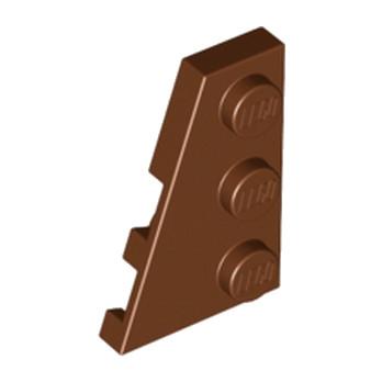 LEGO 4180535 PLATE 2X3 ANGLE GAUCHE - REDDISH BROWN