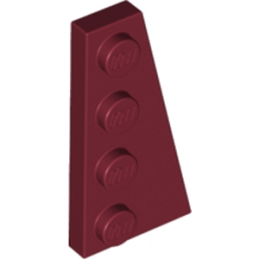 LEGO 6010007 RIGHT PLATE 2X4 W/ANGLE - NEW DARK RED