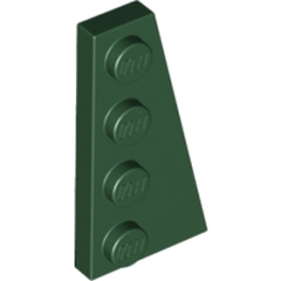 LEGO 6214291 RIGHT PLATE 2X4 W/ANGLE - EARTH GREEN