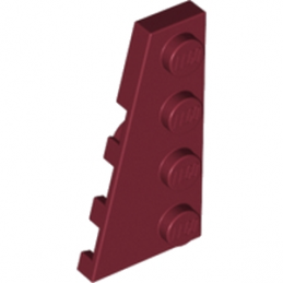 LEGO  4162587 PLATE 2X4 ANGLE GAUCHE - NEW DARK RED
