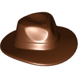 LEGO 6042868 CHAPEAU - REDDISH BROWN