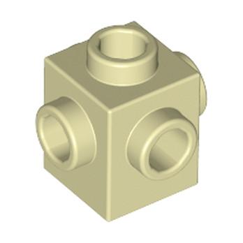LEGO 6189167 BRIQUE 1X1 W. 4 KNOBS - BEIGE
