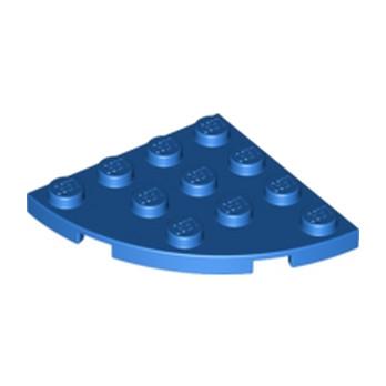 LEGO 6146306 PLATE 4X4, 1/4 CIRCLE - BLEU