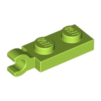 LEGO 6347285 PLATE 2X1 W/HOLDER,VERTICAL - BRIGH YELLOWISH GREEN