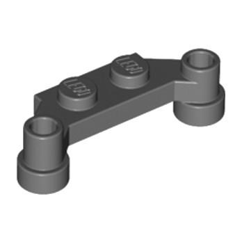 LEGO 4217558 PLATE 1X4 SPLIT-LEVEL - DARK STONE GREY
