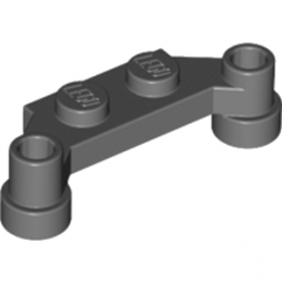 LEGO 4217558 PLATE 1X4 SPLIT-LEVEL - DARK STONE GREY