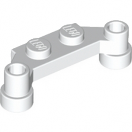 LEGO 6164280 PLATE 1X4 SPLIT-LEVEL - BLANC